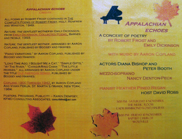 Jordan Grigg Recital Program